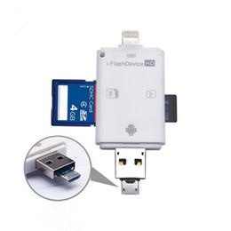 Canada 3 en 1 lecteur i-flash lecteur multi-carte OTG lecteur de carte mémoire micro SD TF USB pour iPhone 8 7 6 Andriod PC supplier i sd cards Offre