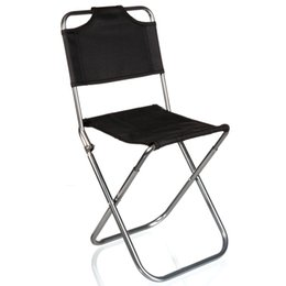 Wholesale Grill Brands - Wholesale- Brand High Quality Black Aluminum Folding Grill Portable Stool Chair Fishing Chairs Bag Outdoor Travel Fishing Foldable Chair