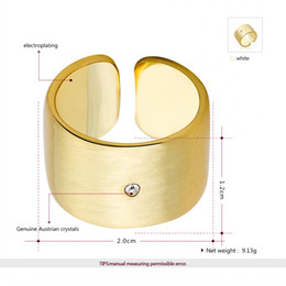 Wholesale Platinum Rings Sale - ROXI Brand Classic Genuine Summer Gift Austrian Crystals Sample Sales Platinum Gold Plated Finger Rings Fashion Party Jewelry