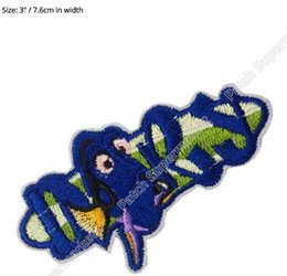 """Wholesale Wholesale Finding Nemo - 3"""" Finding DORY Party nemo favors Movie TV Costume Embroidered Emblem iron on patch patches Dress Cap Badge"""