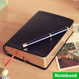 Wholesale Vintage Office Supplies - Wholesale- Vintage Thick Notebook Bible Diary Book Leather Agenda Zakka Caderno Escolar Stationery Office Material School Supplies 6658