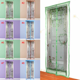 Wholesale Insect Screens Doors - Wholesale- 90 100 X210 cm Magnet Mosquito Net Summer Anti-mosquito Mesh magnetic Curtains Soft Yarn Door Tulle Window Screen Fly Insect
