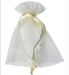 Wholesale Organza Pouches Gifts Bags - 100 Pcs Beige Organza Jewelry Gift Pouch Bags Ivory 9X12cm ( 3.5 x 4.7 inch) Drawstring Bag Organza Dark Blue DIY Gift Candy Bags