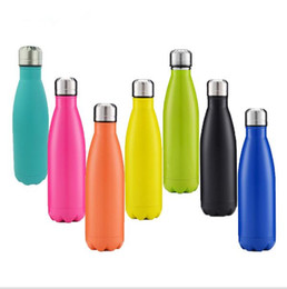 Wholesale Bicycle Insulated Bottle - 500ml Cola Shaped Bottle Insulated Water Bottle Creative Thermos Coke cup Water Bottle Outdoor Sports Bicycle Travel Cup 50pcs KKA1791