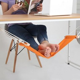 Wholesale Easy Feet Foot - Portable Mini Office Foot Rest Stand Desk Feet Hammock Easy to Disassemble Internet Hobbies Outdoor Rest OOA2774