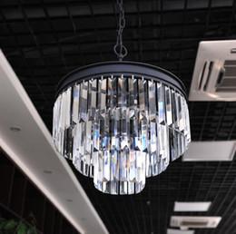ciondolo in stile americano Sconti 3_ tier retro stile di restauro odeon prisma chiaro lampadario di cristallo illuminazione da incasso