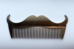 Wholesale Hair Template - 1Pc Hot selling Stainless Steel Beard Shaping Template Comb Trim Tool Shaving Tool Combs