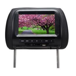 Wholesale Dvd Car Headrest Inch - 7 inch headrest car dvd lcd AV TV USB16:09 mp5