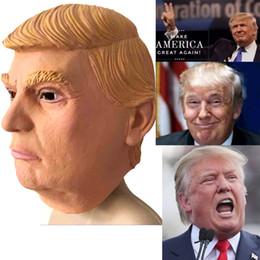 Wholesale President Masks - USA President Candidate Mr Trump masks Halloween Mask Latex Face Mask Billionaire Presidential Donald Trump Latex Masks Wholesale price DHL
