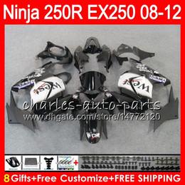 Wholesale Kawasaki West Fairings - 8Gifts 23Colors For KAWASAKI NINJA ZX250R 08 09 10 11 12 EX 250 16HM73 TOP West black ZX-250R ZX 250R EX250 2008 2009 2010 2011 2012 Fairing