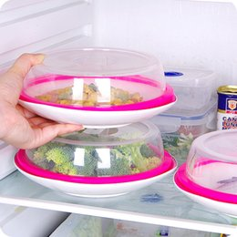 Wholesale can refrigerator - 4hj Lids Can Be Superimposed Plate Fresh Lid With Silicone Ring Refrigerator Freshes Cover Good Sealing Anti Oil Cap Covers Factory Direct