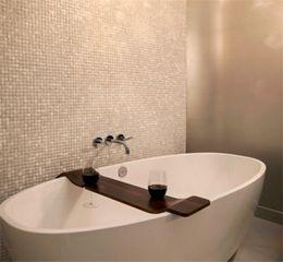 Wholesale pearl tile backsplash - HOT!!Seamed natural White shell tiles, Mother of Pearl Shell Kitchen Backsplash  Bathroom home wall decoration mosaic tiles sticker,LSBK2001