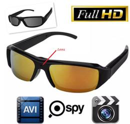 Wholesale Spy Audio Video Glasses - 1080P 720P Mini Spy Hidden Eyewear Glasses Cam Sunglasses Camera DVR Outdoor Sports Hidden DVR Audio Video Recorder