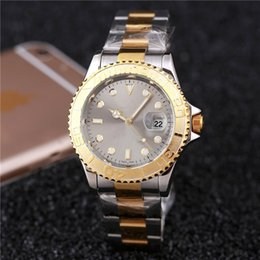 Wholesale Battery Clock Movements - New top brand automatic date gray watches mens AAA quality accurate positioning is complete watch quartz movement master male clocks
