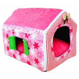 Wholesale Cute Bedding - TAILUP 3Colors Cute Princess Style Pink Pet House Soft Dog Bed