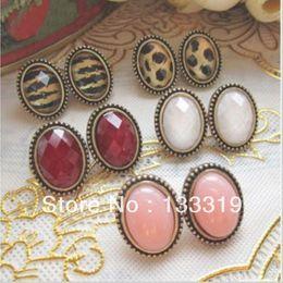 Wholesale Cheap Fashion Earrings Free Shipping - 2016 New Fashion Retro fashion Lady European Style Round Crystal Stud Earring Wholesale Cheap New Fashion,Free shipping