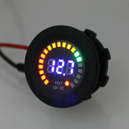 Wholesale Car Volt Meters - Newest 12V Car Motorcycle RV ATV Marine Boat Voltmeter 5V - 15V Waterproof LED Truck Volt Meter Voltage Socket Accessory