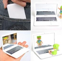 Şirin MAKEUP Mini Cep Laptop Tipi Şeffaf Cam Küçük Cep Aynası Taşınabilir Moda Dizüstü Bilgisayar Formu Kompakt Aynalar CCA7676 100pcs supplier compact laptops nereden kompakt dizüstü bilgisayarlar tedarikçiler