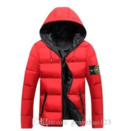 Wholesale Thick Neck Jackets - Fast transport 2017 Mens Winter Coat Winter Stone Jacket Men Cotton Brand Clothing Parkas Mans ISLAND cotton Coats