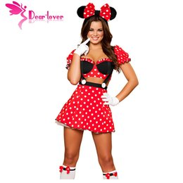 Wholesale Dress Halloween Women Adults - sexy Cosplay Fantasy Mouse Costume cute LC8719 Adult Costume Outfit Exotic Apparel women fantasia halloween erotic dress 17410