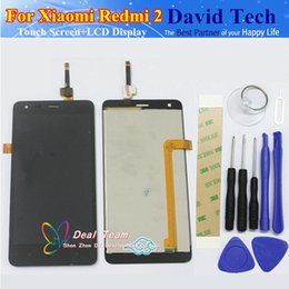"Wholesale Xiaomi 2a Free Shipping - Wholesale- High Quality LCD Display + Digitizer Touch Screen Assembly For Xiaomi Redmi 2 2A Redmi2 Hongmi 2 Cellphone 4.7"" Free Shipping"