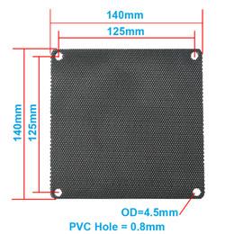 Wholesale Case Fan Cover - Wholesale- 5pcs lot 14CM Computer Mesh Black PVC PC Case Fan Cooler Dust Filter Dustproof Case Cover,140x140mm