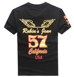 Wholesale Mens Jeans Shirt - 2017 New Robin T-shirt Mens top quality robin jeans men tshirt 100% Cotton robin men t shirt tees hip hop men short sleeve shirts us size m-