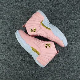 Wholesale Gym Rubber Bands - Jumpman Air Retro 12 Wool Womens Basketball Shoes Sneakers Women Pink 12S OVO Gym Flu Game Sport Shoe