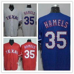 Wholesale Rangers Jersey China - 2016 Texas Rangers Jerseys Cole Hamels Jersey Cheap White Red Blue s Double Stitched Best Quality From China Baseball jerseys