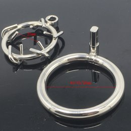 Wholesale Male Chastity Gimp - Raycity Male Chastity Device Crown of Thorn Stainless Steel Bondage Male Chastity Ring Gimp Fetish HOT Gay Sex Toys For Men BDSM MKC018