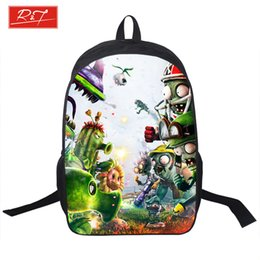 silver sonic Promo Codes - Wholesale- PVZ Backpack For Teens Kids Anime Sonic Mario Backpacks Plants Zombies Schoolbags Boys Girls School Bags Daily Backpack Book Bag