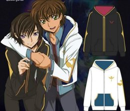 Wholesale Color Codes White - Code Geass 10 Years Anniversary Cotton Hoodie Lelouch Lamperouge Cosplay Costume Coat Men's Casual Sweatshirts Unisex S-2XL