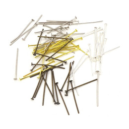 Wholesale Jewelry Needle Pins - Head Pins Metal Pin Agulhas Para Artesanato Pins Findings Jewelry Making Supplies Pin For Beading Necessaire 26mm 30mm 40mm