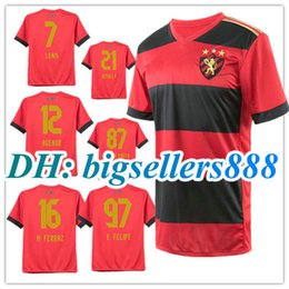 Wholesale Sporting Football Club - Top Thai quality 17 18 Brazil club Sport Recife home red soccer Jersey 2017 DIEGO SOUZA LENIS E.FELIPE M.FERRAZ RITHELY away football shirts