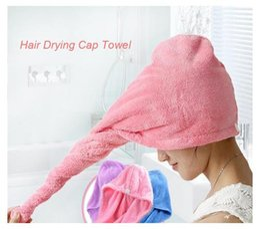 Wholesale Hair Drying Towel Cap - Strong Water Absorbing Microfiber Dry Hair Towel Wrap Bathing Shower Cap