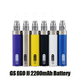 Wholesale Battery Mah - eGo 2200mAh KGO ONE WEEK 2200 mah GS ego II ego-II battery for ce4 mini protank 3 Aerotank mega Turbo Nautilus mini atomizer