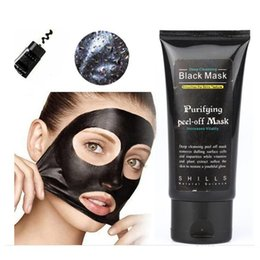 Wholesale Hot Facial Mask - HOTTEST SHILLS Deep Cleansing Black MASK 50ML Blackhead Facial Mask DHL free shipping