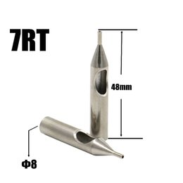 Wholesale Needle Nozzle - Wholesale-High Quality 5PCS 7R Tattoo Tips 304L Stainless Steel Tattoo Nozzle Tips Round 7 Supply For Needles Free Shipping TL-201-7R