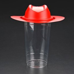 Wholesale Pets Drink - 1000ml Disposable Drinks Cup PET Cold Juice Fighter cap lid Creative Soda container