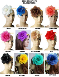 Wholesale Mix Colour Hair - 15cm soft silk flower for sinamay fascinator,sinamay hats and hair accessory,12 colours,16pcs lot