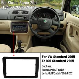 Wholesale Stereo Skoda Fabia - LEEWA Car DVD CD Radio Stereo Fascia Panel Frame Adaptor Fitting Kit For Skoda Fabia 2 Second generation(Typ 5J;2007-2014) #2369