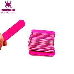 Wholesale Block Polisher - Wholesale- 100pcs 50*13MM Mini Pink Nail File Block Buffer For Manicure UV Gel Polisher Files Manicure Buffers Tips Nail Tools Accessories