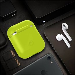 Wholesale Iphone Accessories Headphones - for Air Pods Silicone Shock Proof Protective Case Sleeve Skin Cover True Wireless Headphone Charging Box for apple Airpods Accessories