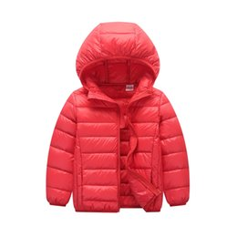 Wholesale Infant Girl White Coat - Kidsalon Boy Winter Coat White Duck Down Jacket for Girls Parka Ultra Light Down Coat Warm Children Clothing Infant Outwear