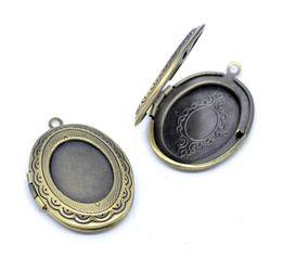 Wholesale Locket Pendant Bronze - DoreenBeads Antique Bronze Picture  Photo Oval Locket Frame Pendants 34x24mm,1 pc