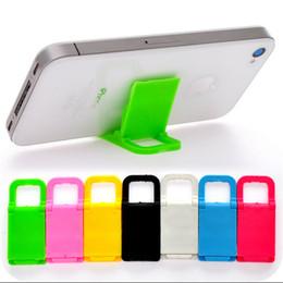 2019 складная подставка для iphone Универсальный складной мини стенд портативный складной держатель для мобильных телефонов Iphone 7 6 5 Samsung HTC 1000pcs скидка складная подставка для iphone