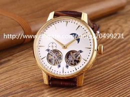 Wholesale Double Tourbillon - Classic fashion luxury business honor precision imported top automatic double Tourbillon phase through the back belt men's Watch
