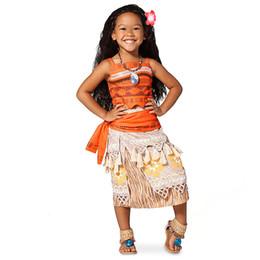 Wholesale Costume Woman Mascot - Polynesia Princess Moana cosplay costume Carnival Christmas costumes movie Moana dress custom made mascot