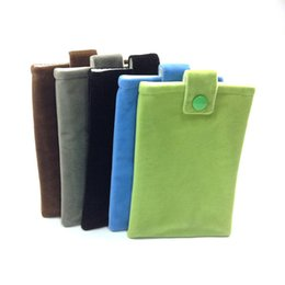 Wholesale Hard Drive Phone - Portable Hard Drive Pouch Bag (10X15CM) 3.94 x 5.9 inch Button Closure Flannel Storage for Mobile Phone   Portable Charger   Watch etc