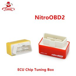 Wholesale Car Performance Tuning - Wholesale- Car Diagnostic Auto ECU Chip Tuning BOX Nitro OBD2 Scanner For Diesel Cars Performance Engine Speed NitroOBD2